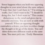 Stress is Optional