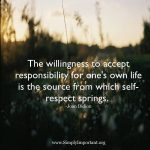 True respect begins with yourself